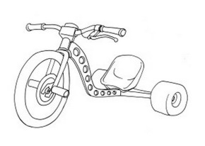 290x206 Bikes Child Riding Bike Coloring Page, Tricycle Coloring Page