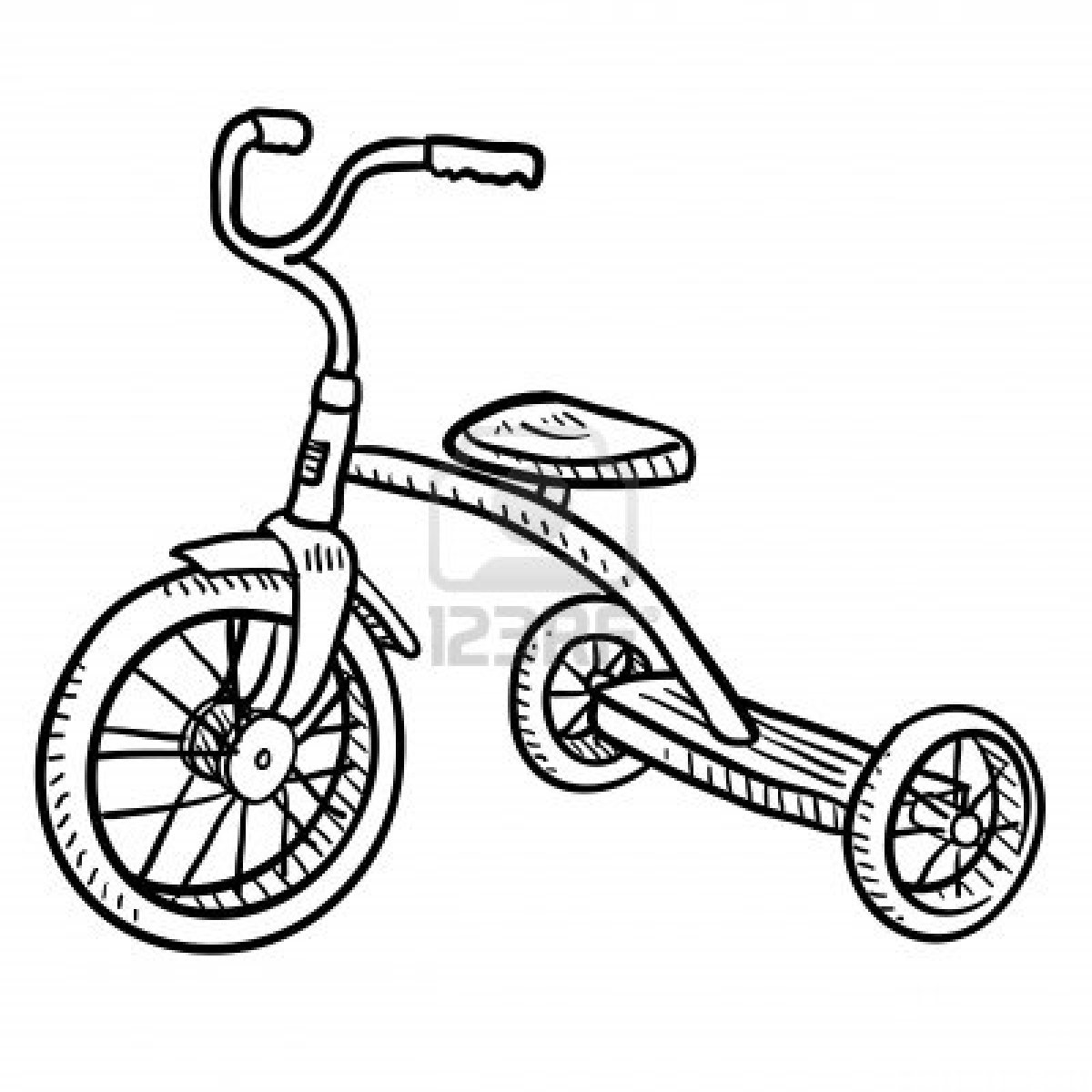 1200x1200 Tricycle Drawing Artisticly Inclined Doodles