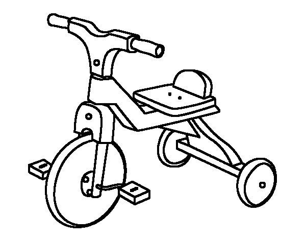 600x470 Children Tricycle Coloring Page