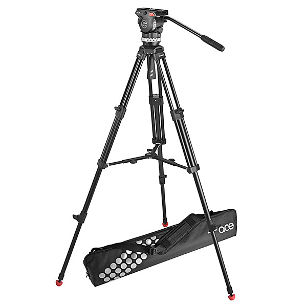 600x600 Sachtler Ace M Fluid Head With 2 Stage Aluminum Tripod Amp Mid Level