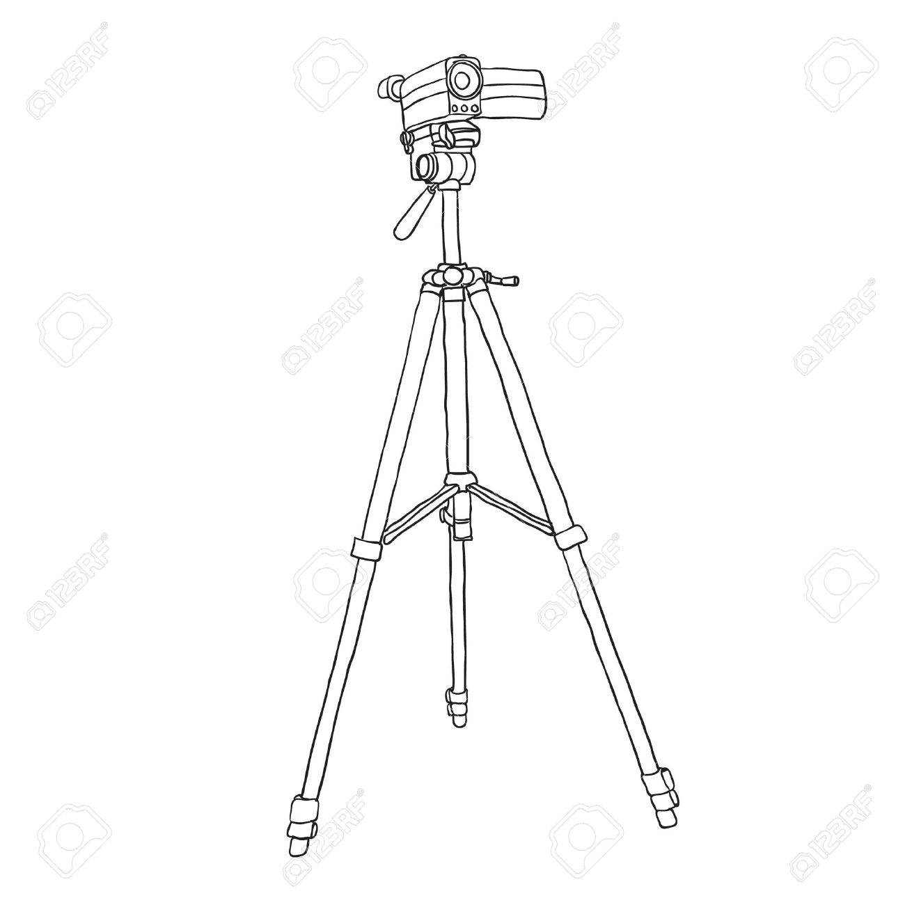 1300x1300 Camcorder On A Tripod. Vector Illustration Royalty Free Cliparts