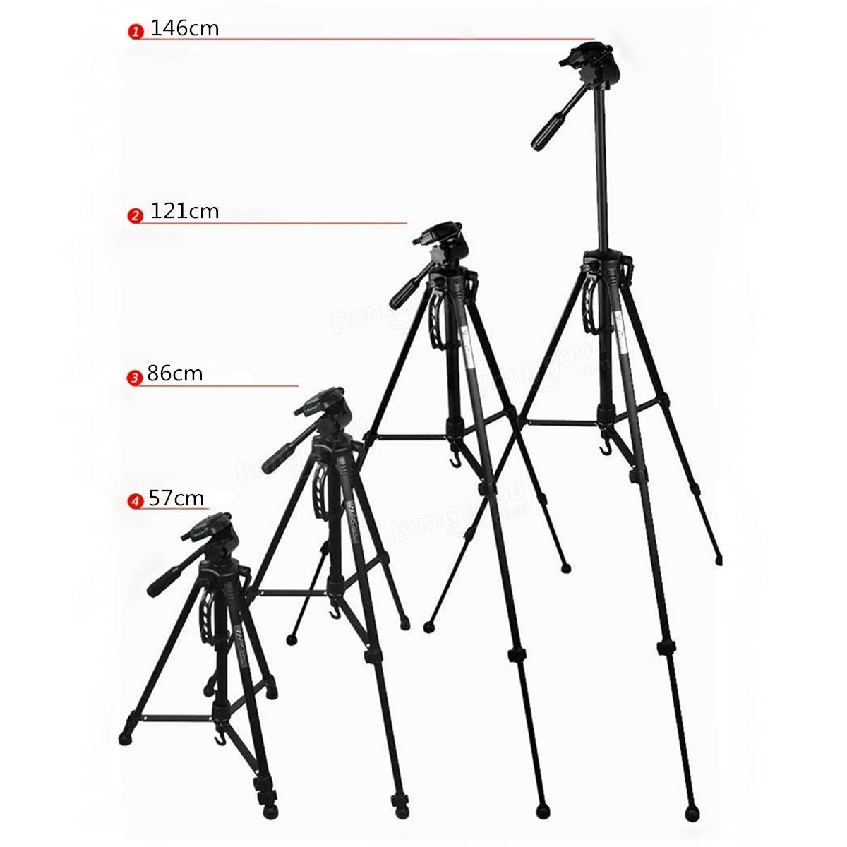 1200x1200 Weifeng Wt 3530 Tripod Stand With Carry Case For Digital Camera