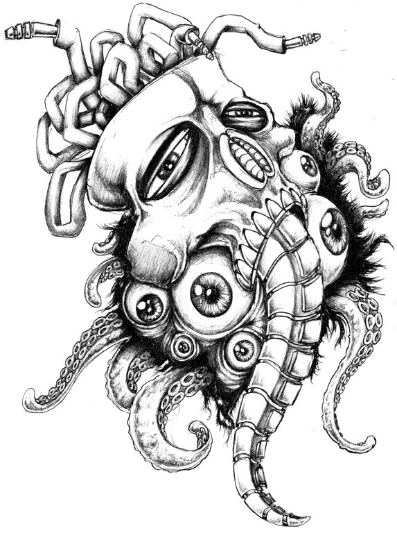 573x768 Audio Tripping Pencil Sketch Awesome Artwork!