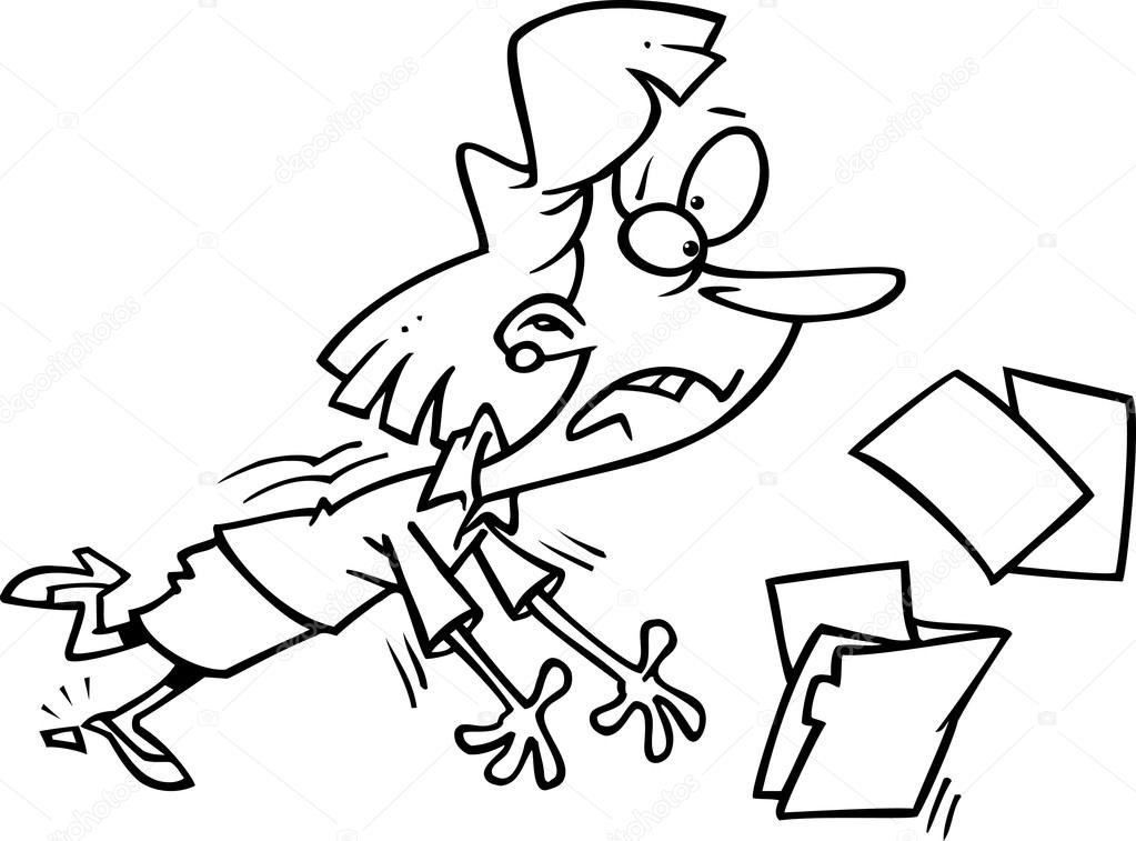 1023x757 Cartoon Businesswoman Tripping Stock Vector Ronleishman