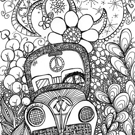 psychedelic mushroom coloring pages | Trippy Drawing at GetDrawings.com | Free for personal use ...
