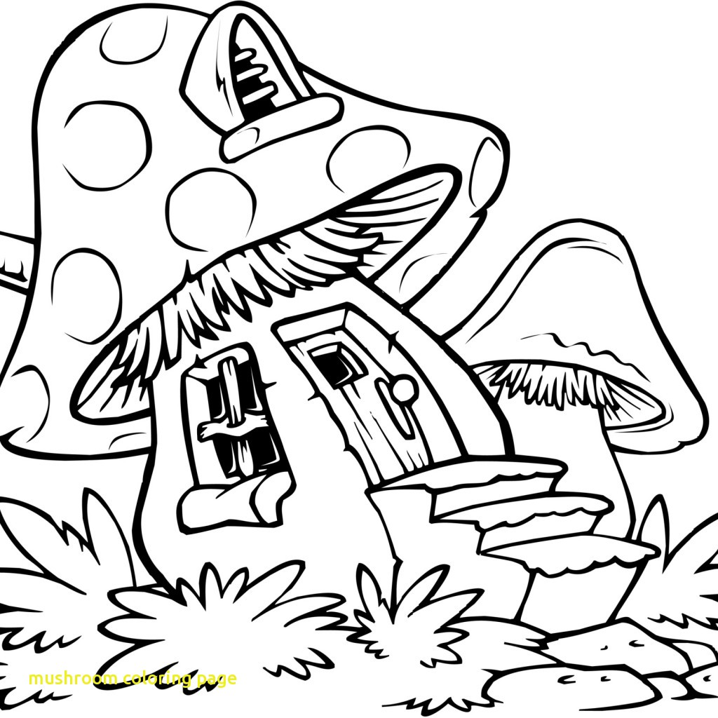 1024x1024 Mushroom Coloring Page With Trippy Mushrooms Coloring Pages