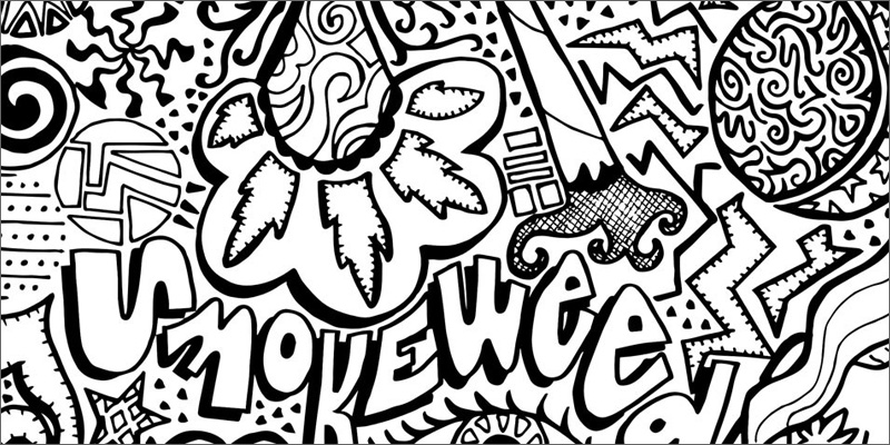 stoner trippy weed coloring pages - photo#5