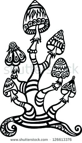 trippy mushroom coloring pages - photo#20
