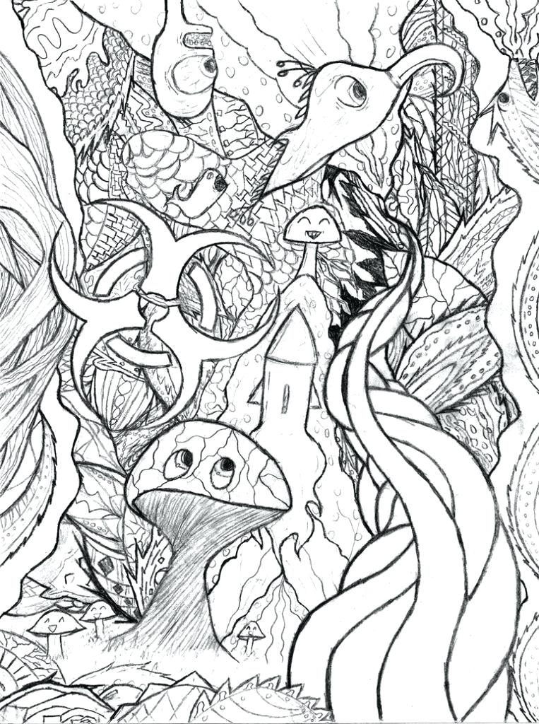 763x1024 Here Are Trippy Coloring Pages Images Para Psychelic Mushroom