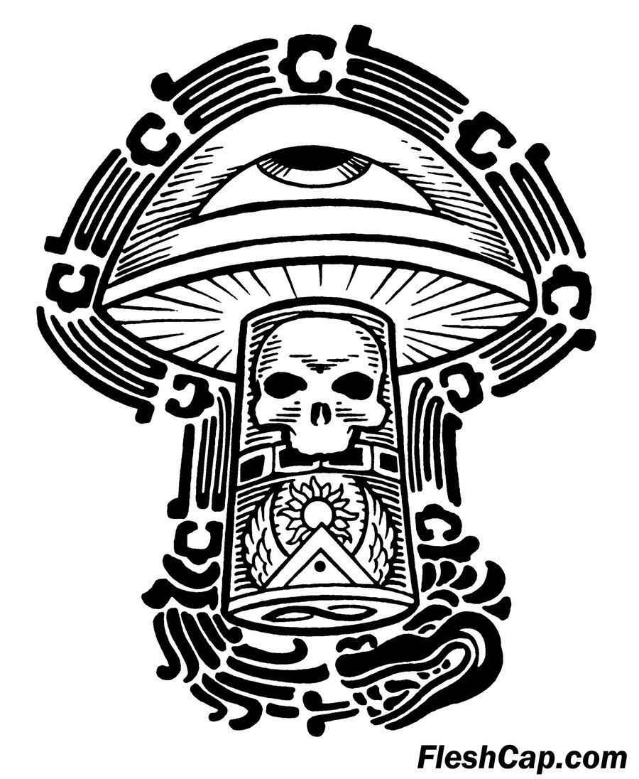 900x1096 Fleshcap Mushroom Art By Fleshcap