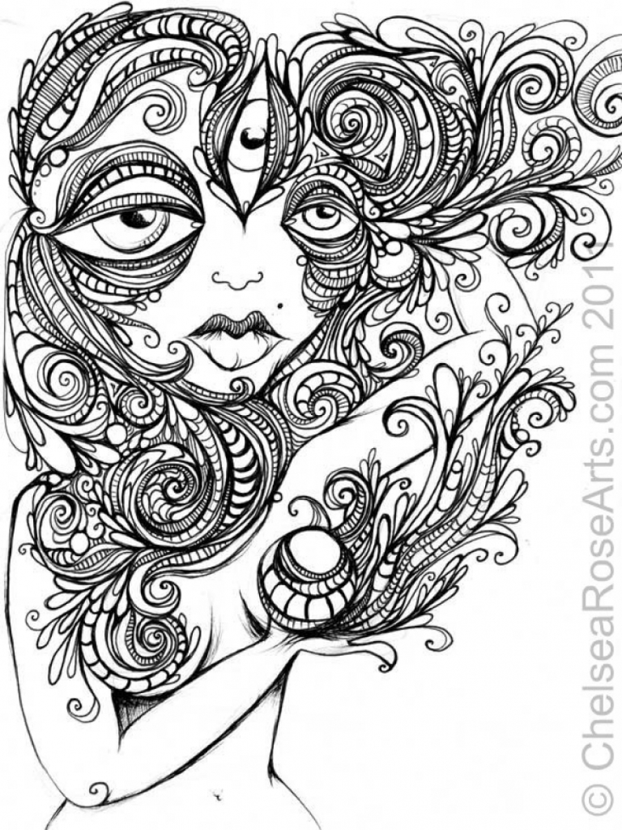 900x1200 Interesting Free Printable Trippy Coloring Pages Psychedelic