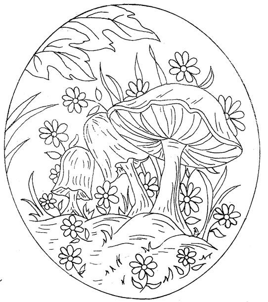 542x611 Mushroom Mandala Coloring Pages Magic Panda