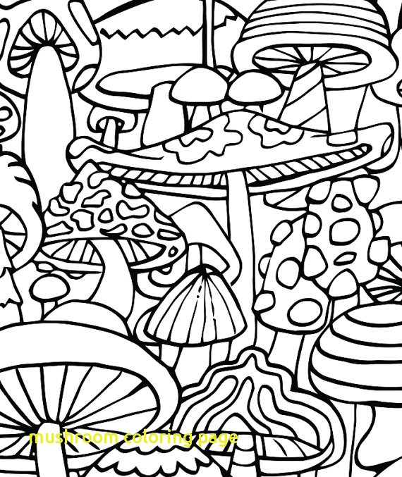570x677 Trippy Mushroom Coloring Book Page Stoner Coloring Pages