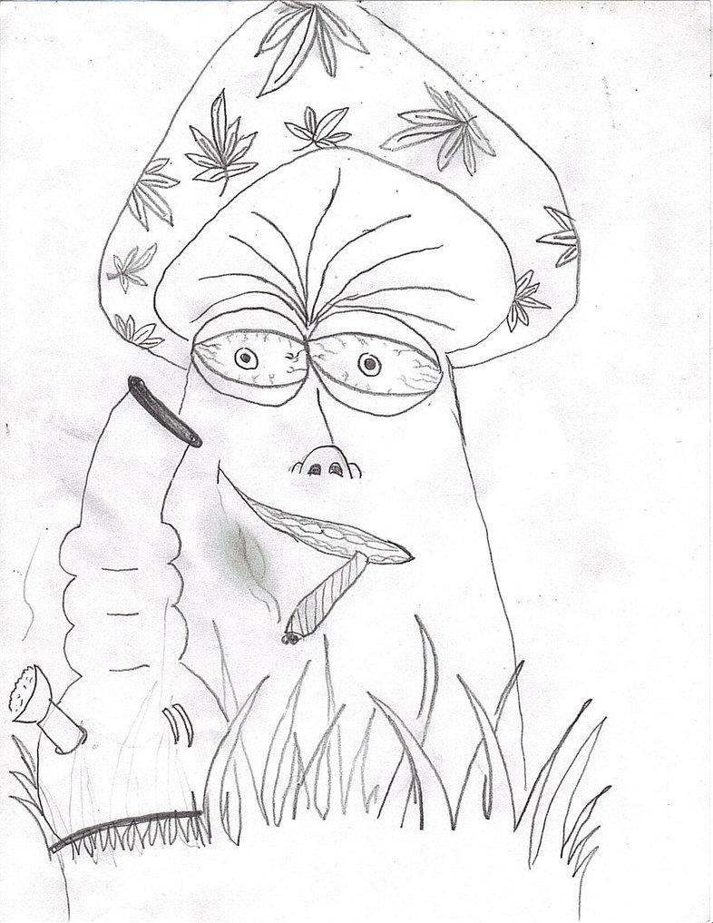 786x1017 Stoner Mushroom By Justjuggalo