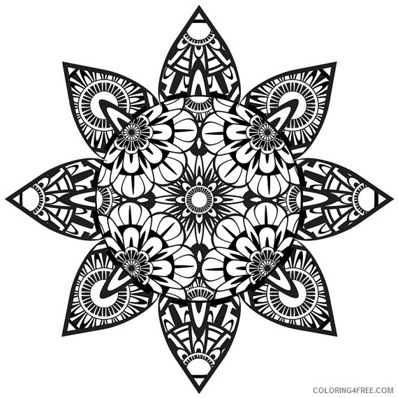 570x570 Trippy Coloring Pages Mushroom Stars Coloring4free