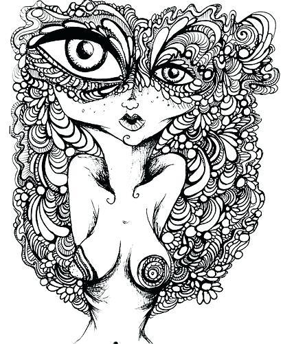 412x500 Psychedelic Coloring Pages Print Sun Download Best Coloring