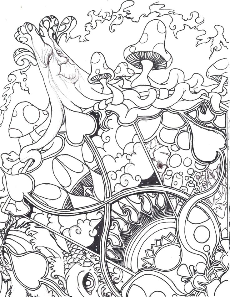 736x948 Trippy Coloring Book Also Surprising Pictures To Color Free