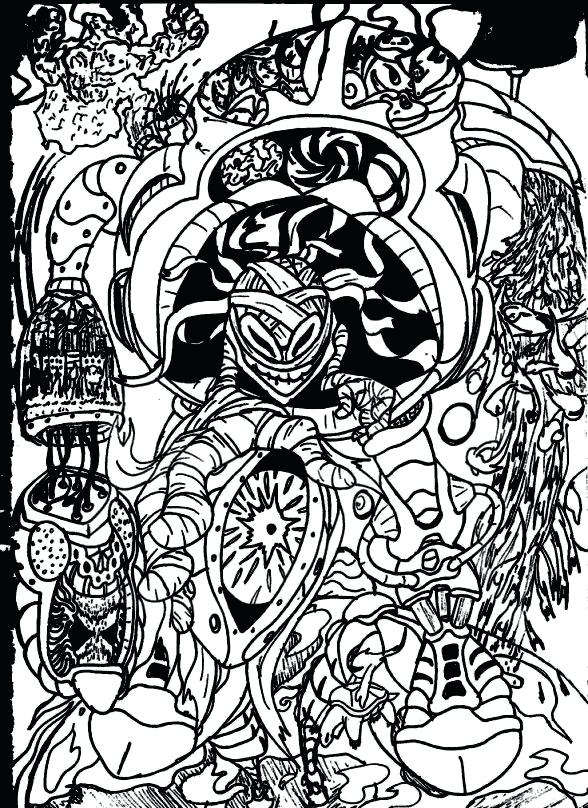 588x808 Trippy Coloring Page Colored Eyes By Magic Mushroom Coloring Pages
