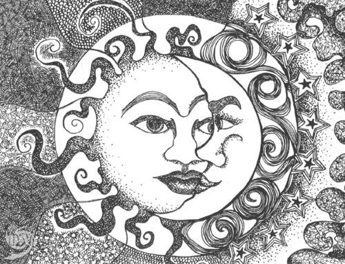500x382 Sun God Inner Hippie Moon Face, Moon And Face