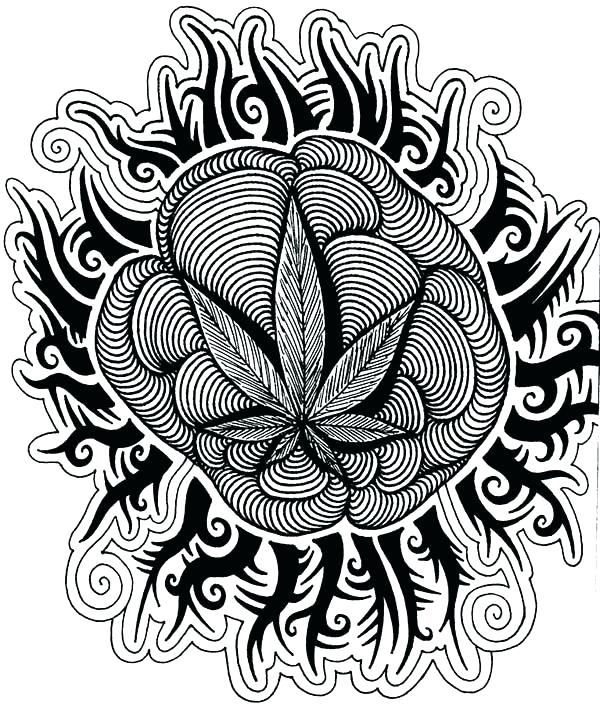 600x704 Trippy Coloring Page
