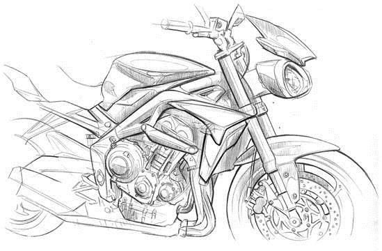 549x360 New Triumph Street Triple 765 Design Sketches Triumph Street