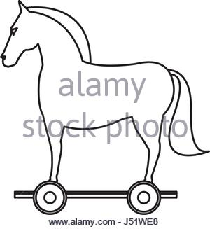 300x327 Trojan Horse Computer Virus Stock Photo 2258585