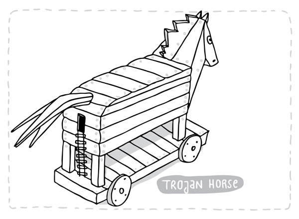 600x439 Dana Damki Trojan Horse With Entrance