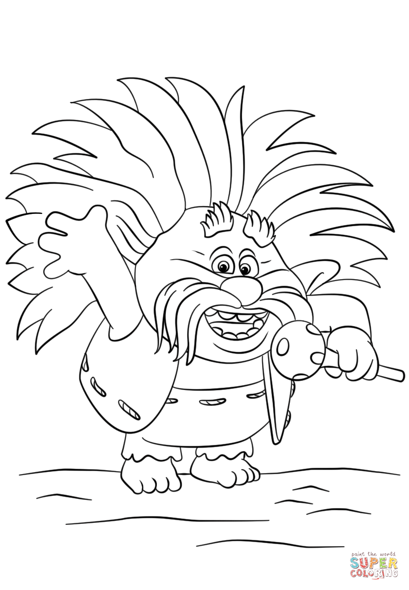824x1186 King Peppy From Trolls Coloring Page Free Printable Coloring Pages