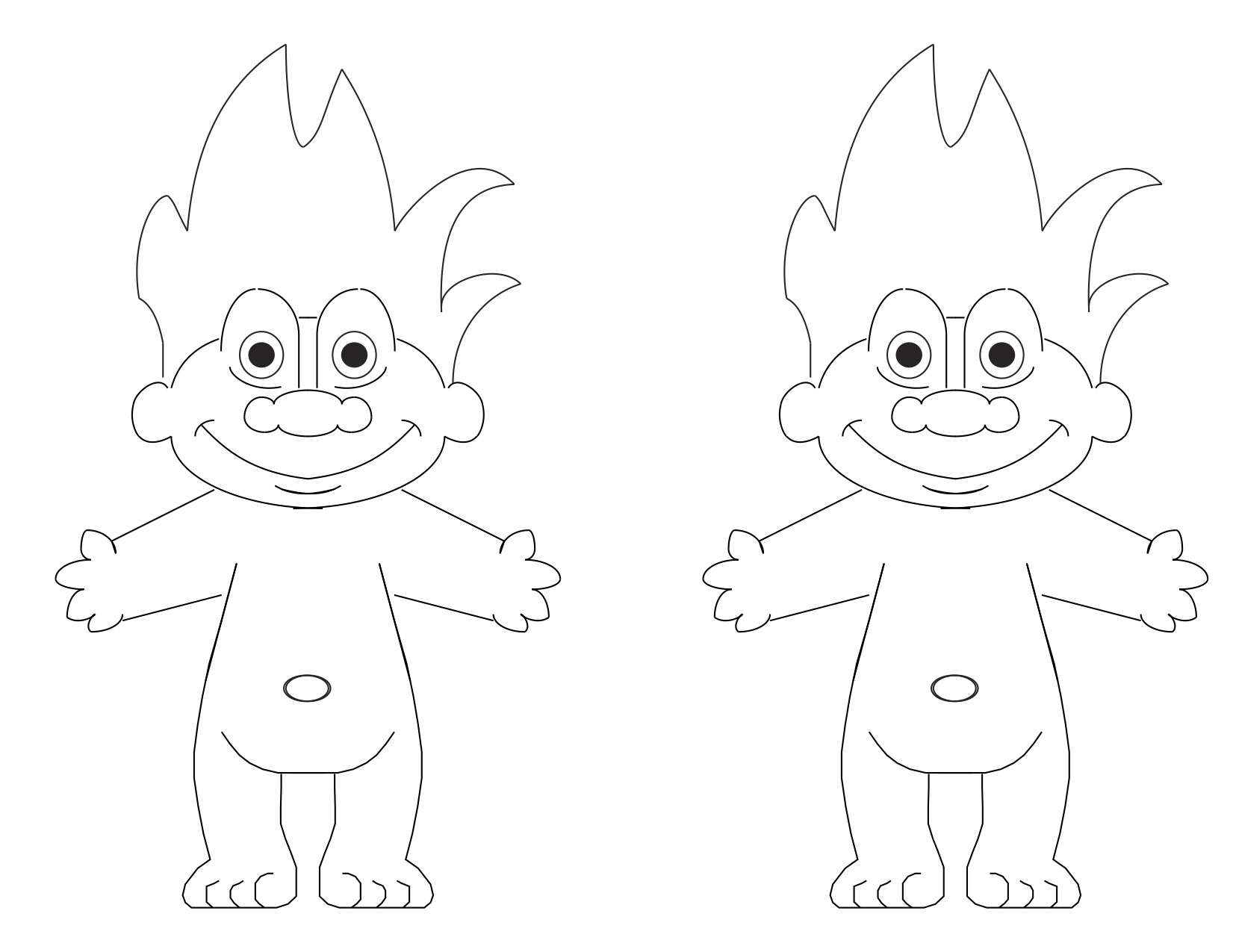 1651x1275 Troll Coloring Pages