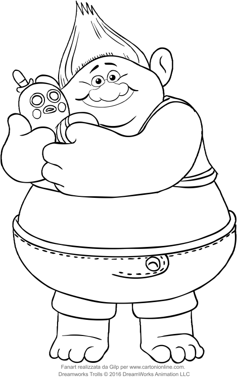 469x749 Biggie Of The Trolls Coloring Pages
