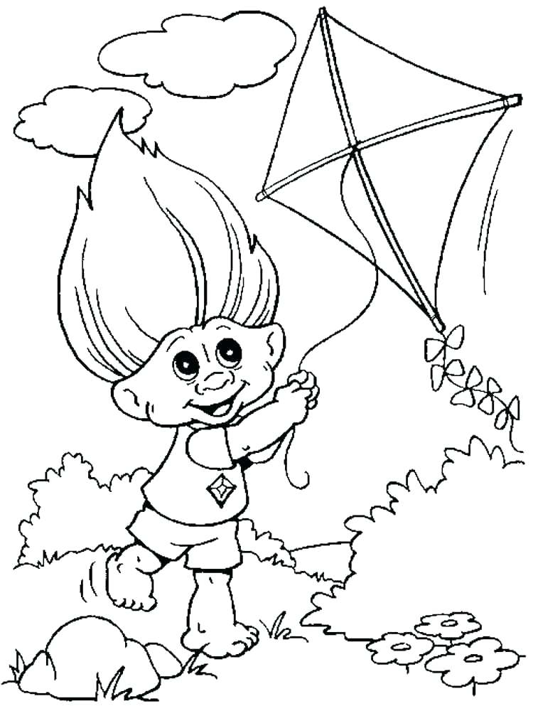 750x1000 Trolls Coloring Pages Guy Diamond As Well As Trolls Poppy