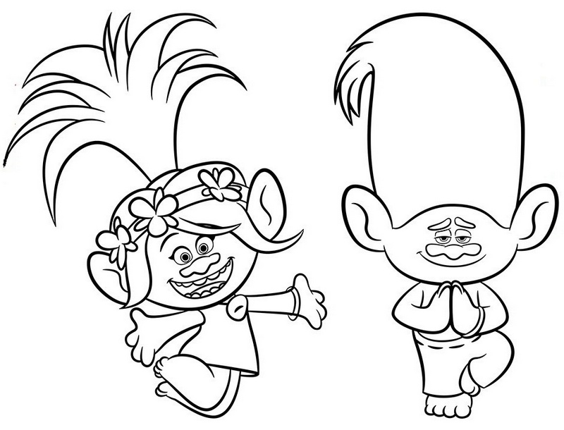 800x610 Cute Trolls Coloring Pages Bringing Positive Messages