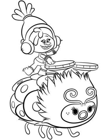 371x480 Dj Suki From Trolls Coloring Page Free Printable Coloring Pages