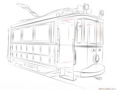 236x183 How To Draw A Trolley Car Step By Step. Drawing Tutorials For Kids