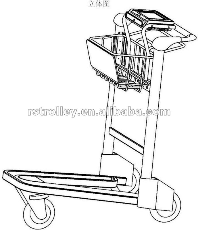 689x800 Portable Luggage Trolley Cart,airport Luggage Trolley