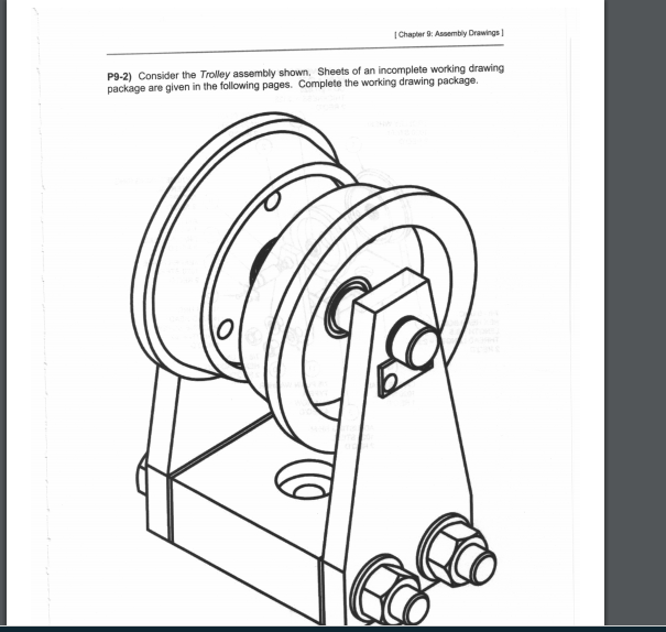 605x574 Solved Chapter 9 Assembly Drawings P9 2) Consider The Tr
