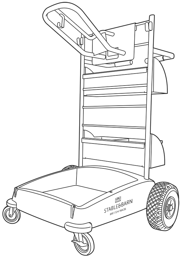 600x856 Stable Amp Barn Tack Trolley Drawing