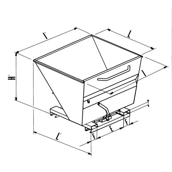 600x600 Tip Bin For Waste