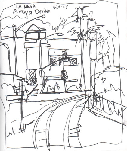 422x500 Urban Sketching Touring By Trolley In San Diego