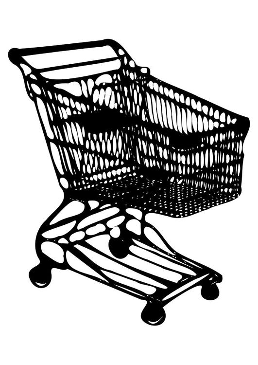 531x750 Coloring Page Shopping Trolley