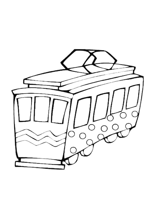 531x750 Coloring Page Toy Trolley