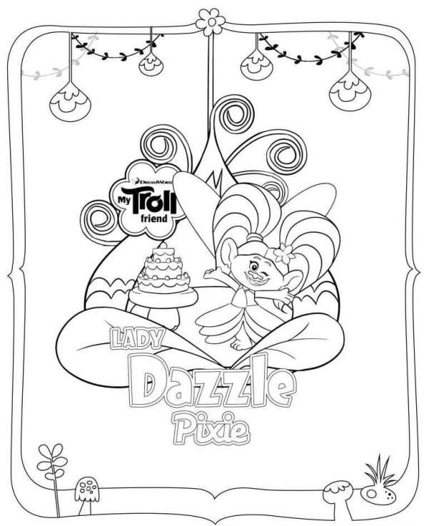 594x737 Kids N 26 Coloring Pages Of Trolls