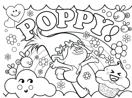 550x409 Poppy Coloring Page Trolls Sheet Golden Free Printable Puppy Pages