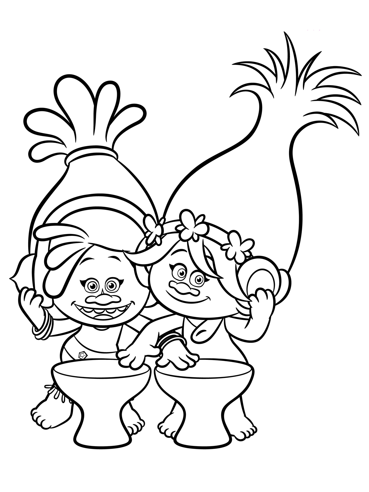 1200x1600 Trolls Coloring Pages For Girls Humorous Print Draw Printable