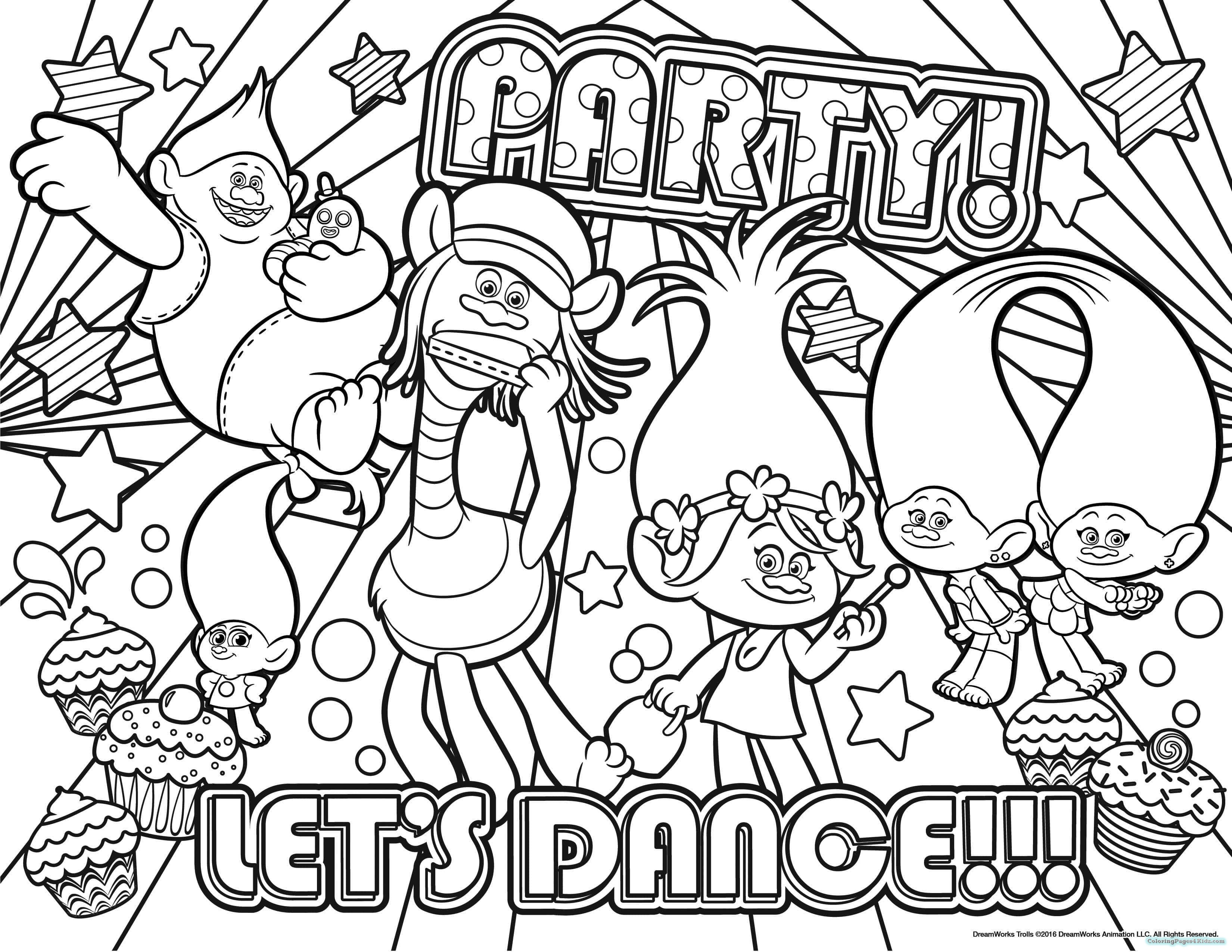 3300x2550 Trolls Dreamworks Coloring Pages Coloring Pages For Kids