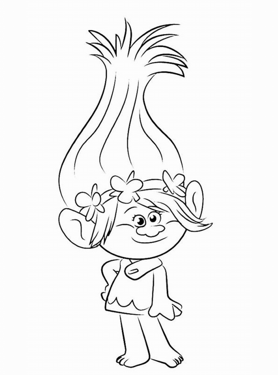 892x1200 Trolls Movie Coloring Pages Troll Craft