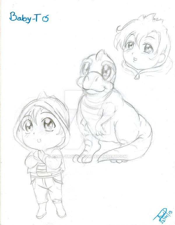 600x770 Baby T Sketch ( Anime Human Version ) By Avril Tron Lukon