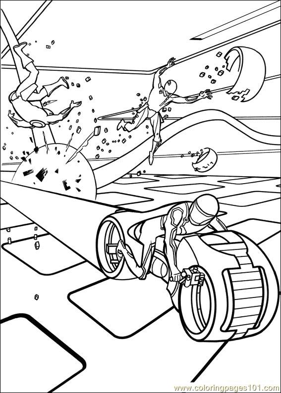 567x794 Tron Coloring Pages