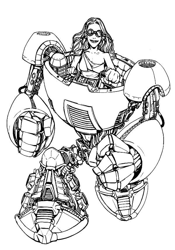 600x855 Tron Legacy Riding Robot Coloring Pages Color Luna