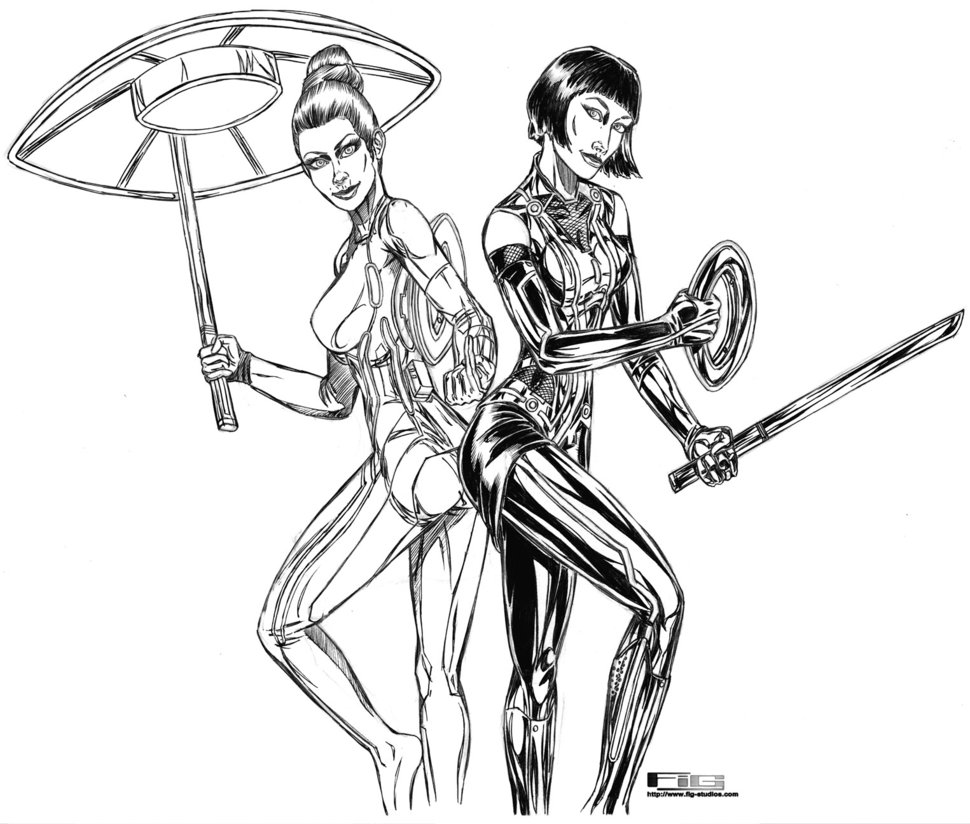 970x824 Tron Quorra and Gem drawing by fig on DeviantArt